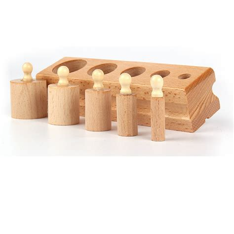 Knobbed Cylinder Blocks by Montessori Toddler Knobbed Cylinders Set Of Four Jolly