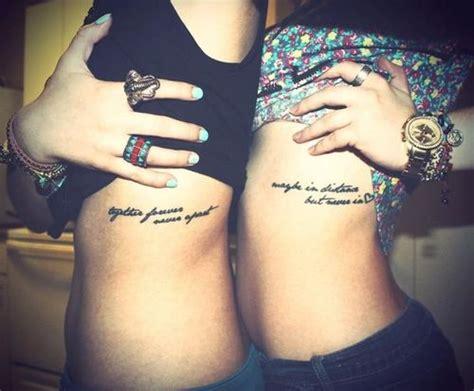 matching girl tattoos matching friendship tattoos on side rib