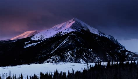 dawn mountain nature snow winter hd nature  wallpapers