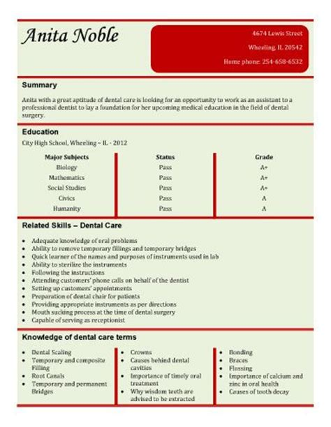 Entry Level Dental Assistant Resume Template Free Resume Dental Assistant Resume Template Microsoft Word