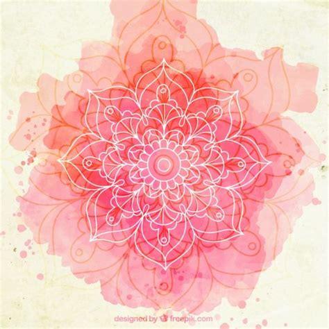 watercolor ohm fondo de esbozo de mandala de acuarela rosa vector gratis mandalas pink