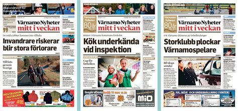 newspaper layout explained v 228 rnamo nyheter mitt i veckan newspaper design