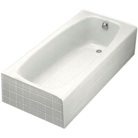 Cast Iron Bathtubs Home Depot by Kohler Dynametric 5 5 Ft Right Drain Cast Iron