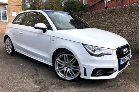 Audi A1 White 5 Door by Audi A1 1 6 Tdi S Line 3 Doors Panoramic Sunroof Xenon