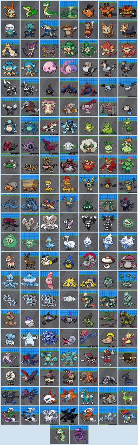 all the new pokemons in a single picture geekologie