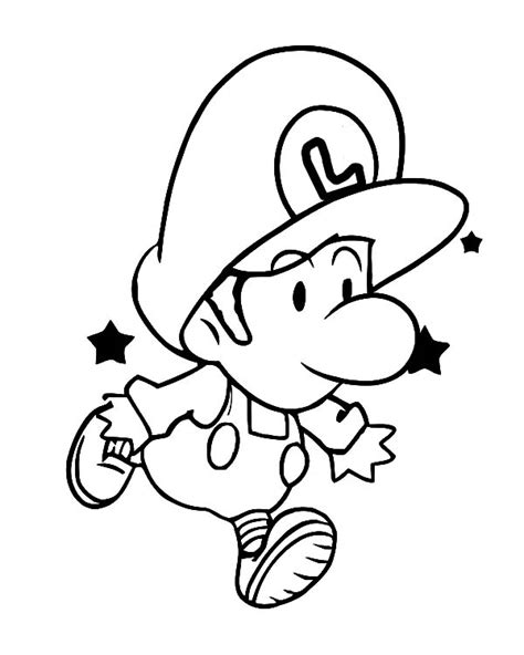 baby luigi coloring page baby luigi learn to jump coloring pages tima pinterest