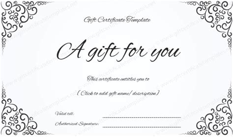 wedding present voucher ideas gift certificate templates