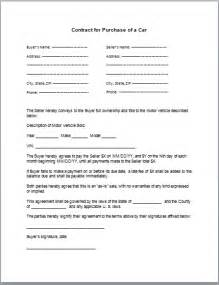 selling car contract template doc 600730 selling a car on payments contract