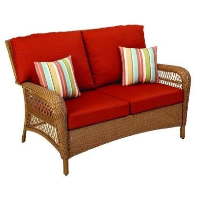 martha stewart charlottetown loveseat martha stewart living charlottetown natural all weather