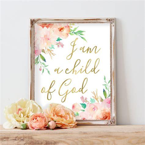baby girl nursery quote print bible verse art nursery i am a child of god print baby girl nursery quote print