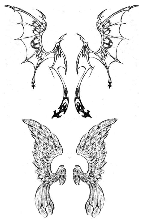 angel and devil wings tattoo designs and wings design tattooshunt