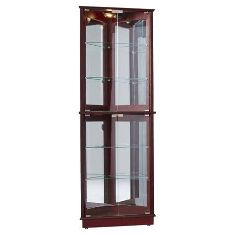 Charlton Home Lohmer Corner Curio Cabinet Reviews Wayfair