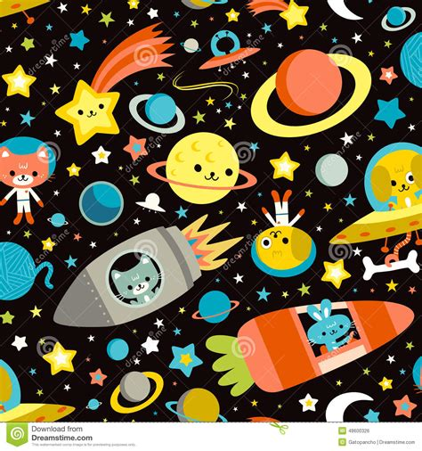 Vector Cat In Space space cat bunny stock illustration illustration of