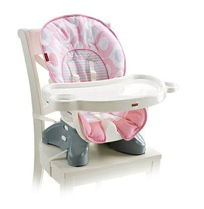 fisher price deluxe spacesaver high chair in pink ellipse