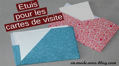 Carte Origami - how to porte cartes de visite en origami card holder