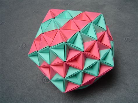 Origami Icosahedron - paper crafts origami on origami paper
