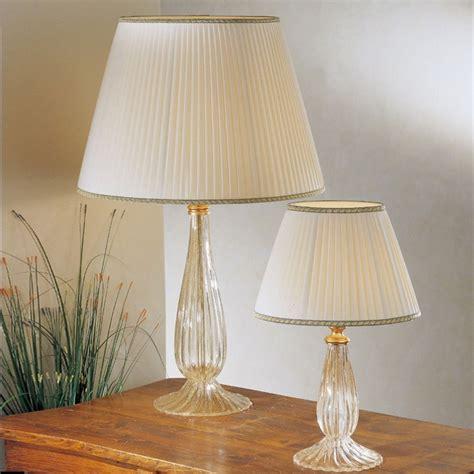illuminazione murano musa lada da tavolo in vetro soffiato di murano con