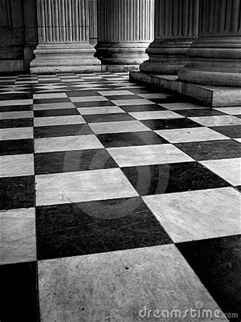 Black  White Tiled Floor Stock  Image