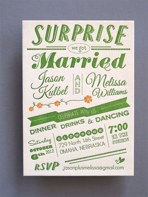 letterpress wedding announcement just when you were about to give up on affordable