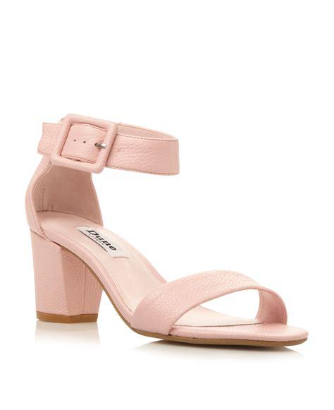 pink sandal heels dune fri two part low heel sandals in pink lyst