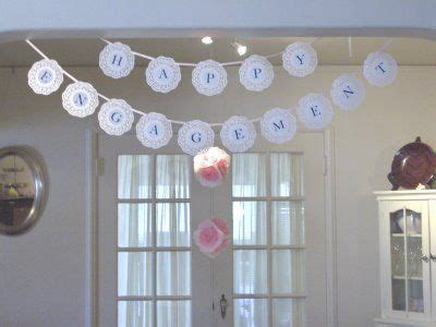 simple home decoration for engagement i also made a banner like this for my mom s 60th birthday