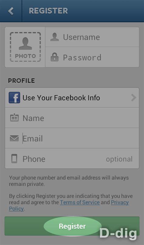 membuat akun instagram blackberry bagaimana cara mendaftar membuat akun di instagram