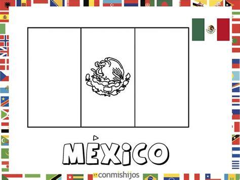 imagenes para colorear bandera de mexico bandera de m 233 xico dibujos de banderas para pintar