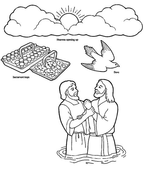 coloring pages jesus baptism jesus baptism free colouring pages