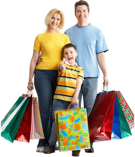 Home Design Services Online by Happy Family With Children Holding Shopping Bags 1designshop