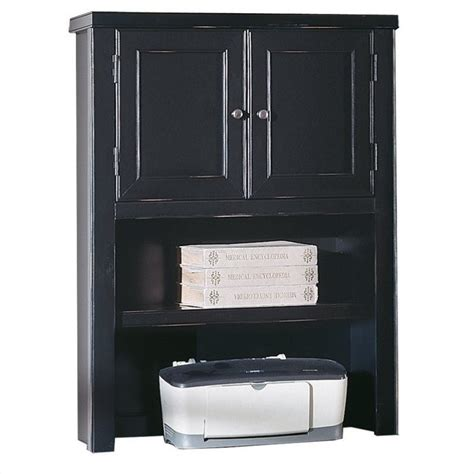 Desk Hutch With Doors Kathy Ireland Home By Martin Tribeca Loft Black Desk Hutch With Doors Tl312