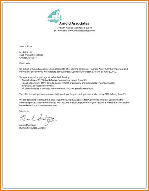 Offer Letter Employment Template 12 Offer Template Reimbursement Letter