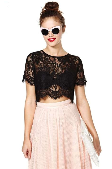 Top Lace Crop persuasion lace crop top