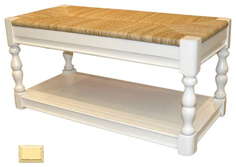 cottage style bench cottage newport bench yellow beach style accent and