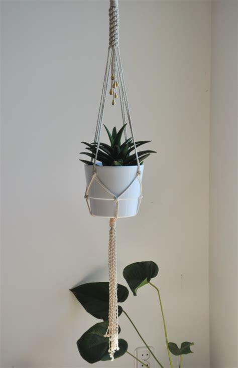 Macrame Hanging Planter - plant hanger hanging planter macrame wall decor macrame