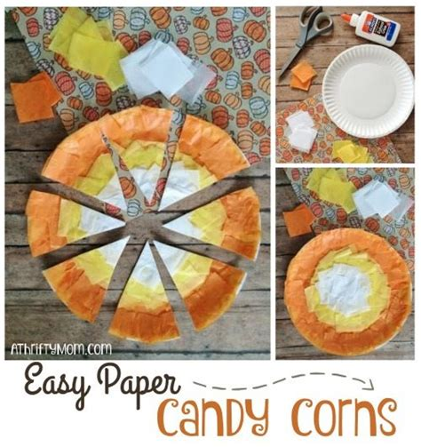 fast diy halloween crafts  kids easy paper candy corns