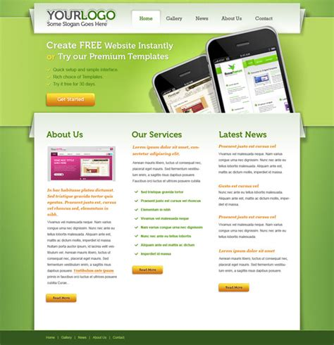 portfolio psd website template free psd files