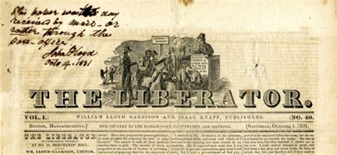The Liberator by The Liberator William Lloyd Garrison S Uncompromising