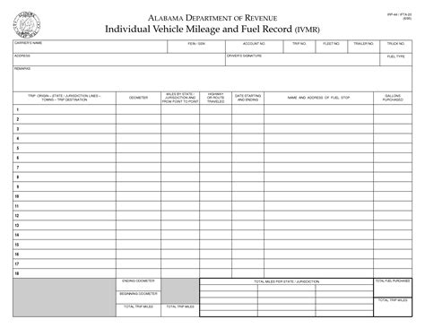 Fuel Log Sheet Template by Ifta Mileage Report Template Related Keywords