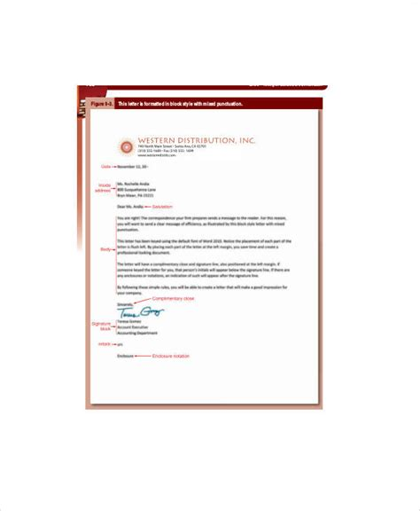 business letters and memos 37 sle business letters in pdf