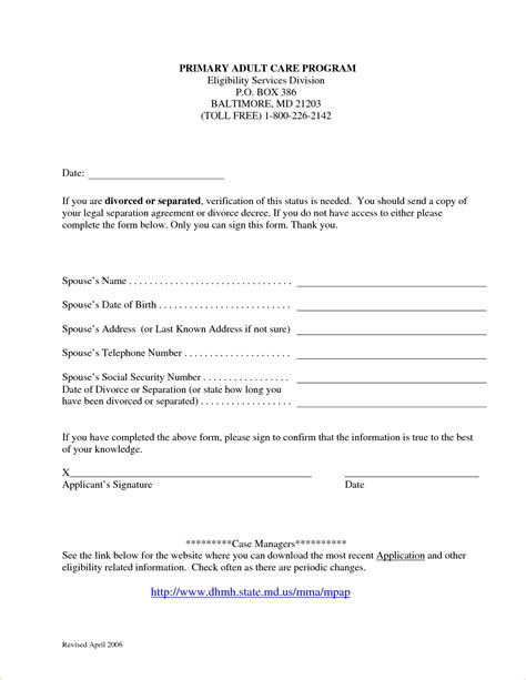 8 marriage separation agreement templatereport template