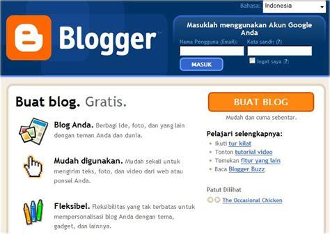membuat blog  bloggercom