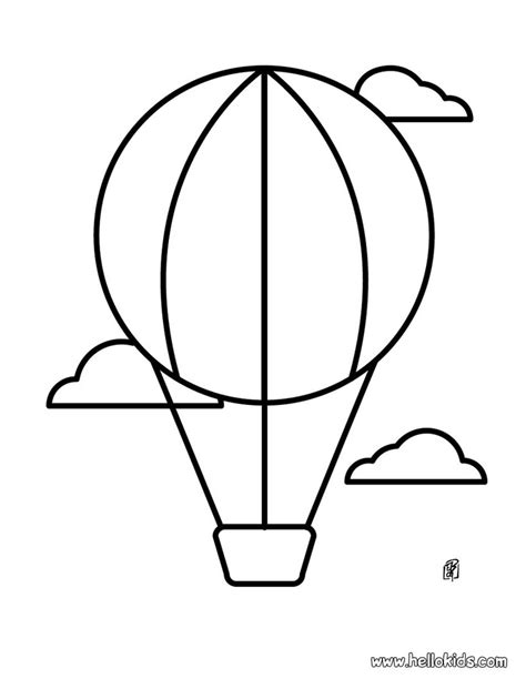 air balloon template balloon template printable az coloring pages