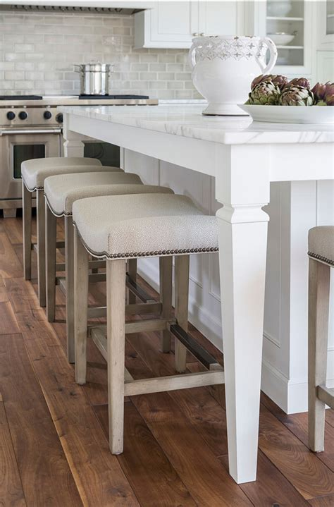 Island Stools For Kitchen White Kitchen With Inset Cabinets Home Bunch Interior