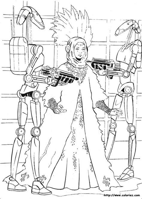 COLORIAGE   la capture de la reine Amidala