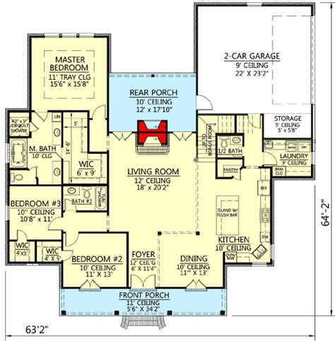 acadian floor plans plan 56379sm acadian house plan with great rear porch