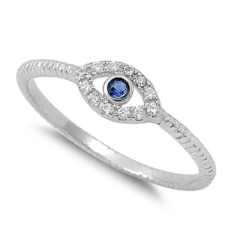 sterling silver evil eye ring jewelry