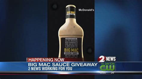 Big Giveaway - big mac sauce giveaway youtube