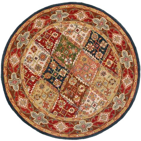 6ft Circular Rugs by Safavieh Heritage Green 6 Ft X 6 Ft Area Rug