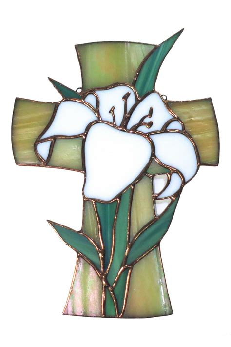 stained glass cross l girlfriends glass stained glass easter cross from