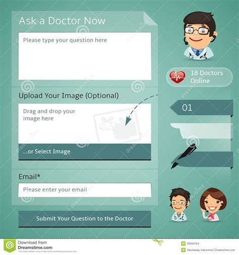 eps format full form doctors online consultation form stock vector image